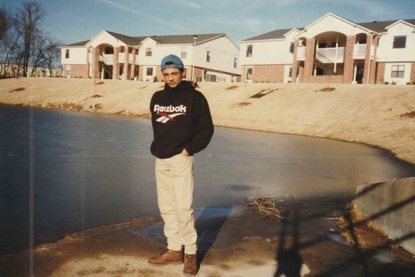 This was a couple of months after they first got here. Alejandra wasn't born yet and they had just gotten their first apartment on their own. It was winter time, possibly February of 1996.