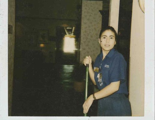 One of my mom's first jobs was at the Hampton Inn in Springdale. she was 21 years old and worked as housekeeper. For these jobs, she had to go under another name.